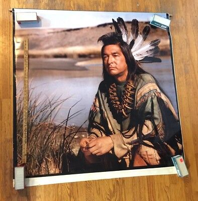 "ENORMOUS 52"" x 49"" Native American Chief Durst Lambda PHOTOGRAPHIC PRINT 1996"
