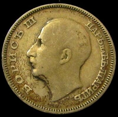 1930 Bulgaria Silver 20 Leva   Lightly Toned & Very Appealing   NR