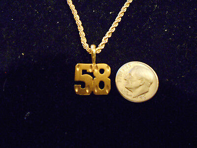 bling gold plated game fashion jewelry number 58 pendant charm hip hop necklace