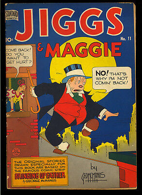 Jiggs & Maggie #11 (#1) Nice First Issue Golden Age King Standard Comic 1949 VG