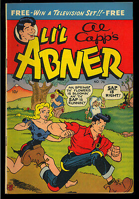 Li'l Abner #76 Nice Al Capp Golden Age Toby Press Comic 1950 FN