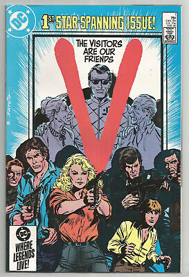 V * LOT of 7 DIFFERENT * 1985 * DC COMICS * BASED ON TV SERIES