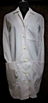 Medical White Women Long Lab Coat Women Size: Medium