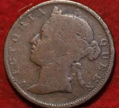 1889 Straits Settlements 1/2 Cent Foreign Coin