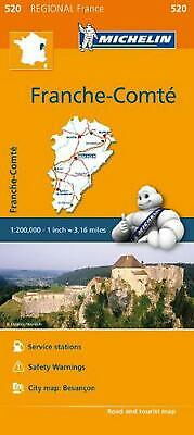 Michelin Regional Maps: France: Franche-Comte Map 520 by Michelin Travel & Lifes