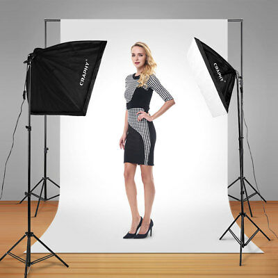 2000W Photo Studio LED Continuous Lighting Kit + 20'' x25'' Auto Pop-up Softbox