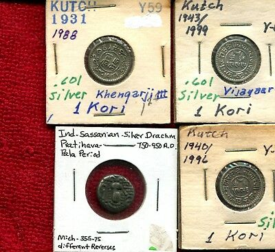 India 3 Kutch States & 1 Ancient All Silver 9.95
