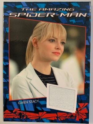 Amazing Spiderman Emma Stone As Gwen Stacy Costume Card Cc3 Stan Lee