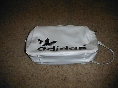 Vintage 1970s Adidas Trefoil Gym Gear Bag White Very Good Condition
