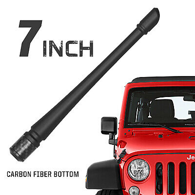 "Rydonair 7"" Short Antenna Mast for Jeep Wrangler JK JL Rubicon Sahara(2007-2019)"