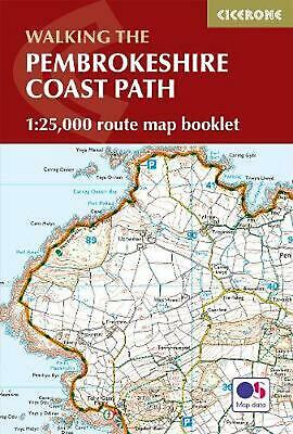 Pembrokeshire Coast Path Map Booklet: 1:25,000 OS Route Mapping by Dennis Kelsal