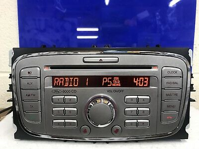 Ford Silver 6000 Focus C-Max Galaxy Etc Cd Car Radio Stereo Cd Player With Code