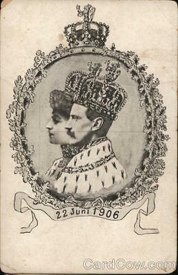 Royalty Haakon VII of Norway and Queen Maud Divided Back Postcard