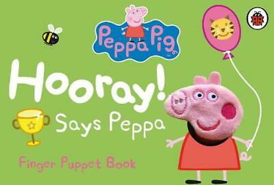 Peppa Pig: Hooray! Says Peppa Finger Puppet Book by Ladybird (English) Board Boo