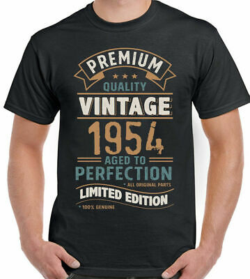2c0cdf20 Vintage Year 1954 - Limited Edition 65th Birthday Mens Funny T-Shirt 65  Year Old