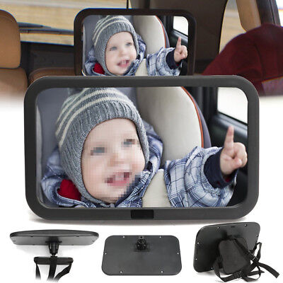 Adjustable Baby Child Back Seat Car Safety Rear Wide View Mirror Headrest Mount