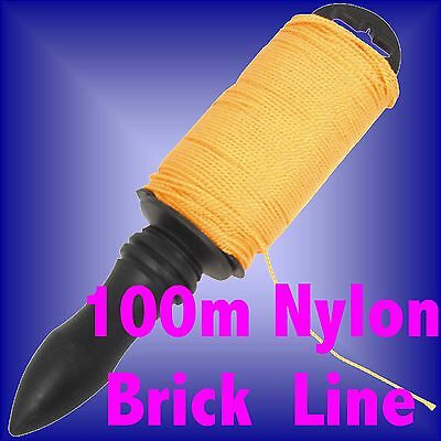 100m NYLON BRICKLINE brick line level pin 100 m metre