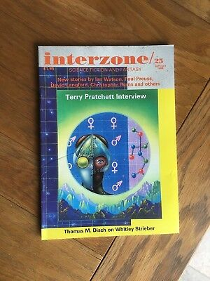 Interzone 25 - Terry Pratchett interview by Paul Kincaid Sept/October 1988 NEW !