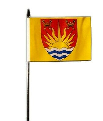 """Berkshire Old County Small Hand Waving Flag 6/"""" x 4/"""""""