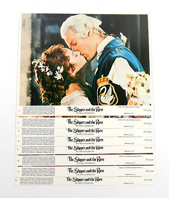 The Slipper and the Rose Movie Lobby Card Set of 8 8x10 Vintage Cinderella Film