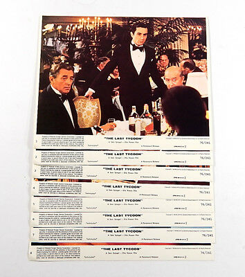 The Last Tycoon Movie Lobby Card Set of 8 8x10 Vintage De Niro Nicholson Kazan