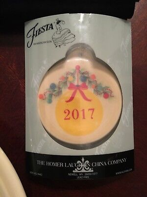 Fiesta Christmas Ornament 2017 New