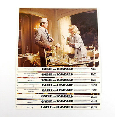 Gable and Lombard Movie Lobby Card Set of 8 8x10 Vintage James Brolin Clayburgh