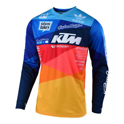 Troy Lee Designs GP Air Jet Team Mens MX Offroad Jersey Navy/Orange