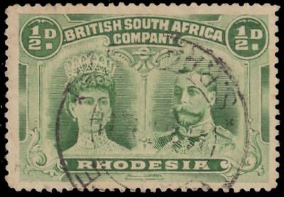 "RHODESIA 101 (SG119) - Queen Mary and King George V ""Yellow Green"" (pa92652)"
