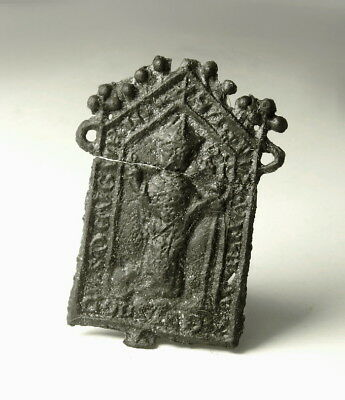 Medieval Pewter Pilgrim Badge Of Ubaldus Gubbio (M255)