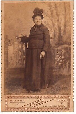 Ca 1890s San Antonio Texas Older Woman CC Photo by City Gallery 13 W. Commerce