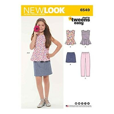 New Look New Look Pattern 6549 Girls' Top, Skirt And Trousers