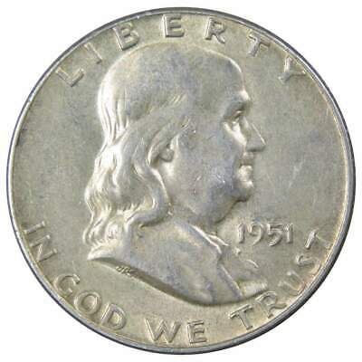 1951 Franklin Half Dollar About Uncirculated