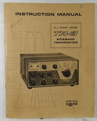 RL Drake TR-3 Original Instruction Manual in Very Good Condition