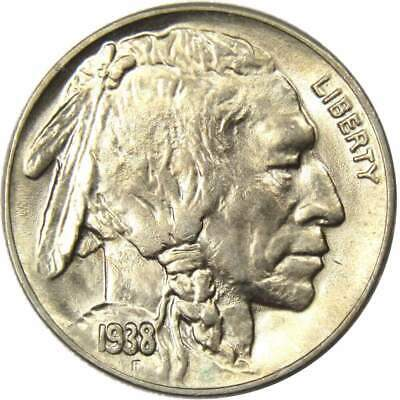 1938 D Buffalo Nickel AU-About Uncirculated
