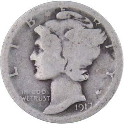 1917 S Mercury Dime Genuine