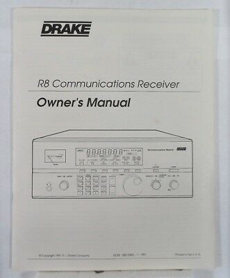 RL Drake R8 Original Instruction Manual in Excellent Condition