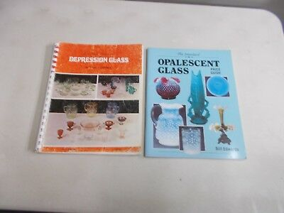 2 Vintage Glass Price Guides Opalescent Glass Depression