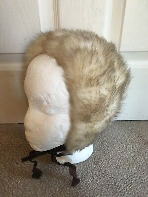 VINTAGE children's FURRY FUZZY Faux fur HAT - MADE IN USA