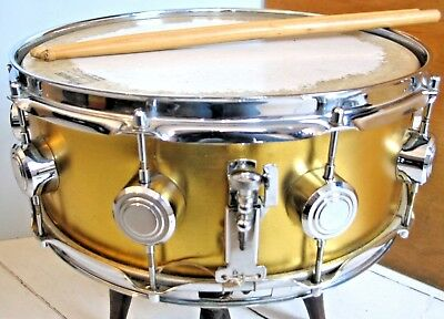 """Vintage Hayman Vibrasonic Snare Drum 14"""" x 5.5"""" Gold great condition early 70's"""