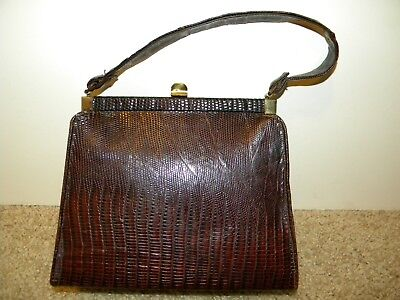 Vintage Brown Alligator Purse With Coin Purse Included