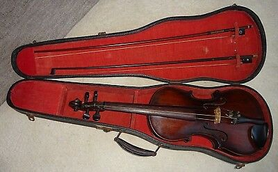 Vintage Violin & 2 Bows in Carry Case