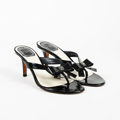 26f7e653781 CHRISTIAN DIOR SANDALS 100% Authentic Black Leather Women s Heels ...