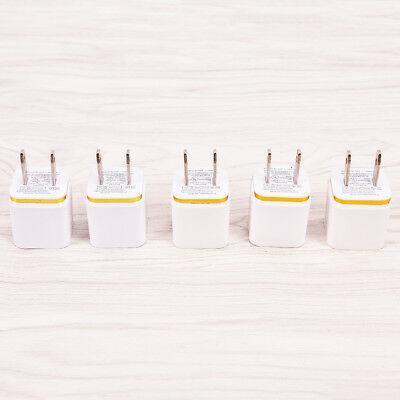 1x USB Wall Charger Power Adapter AC Home US Plug FOR iPhone 6 7 8 X Samsung EC