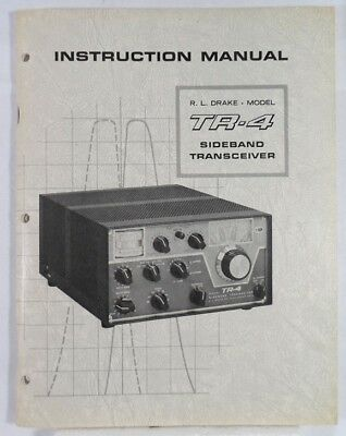 RL Drake TR-4 Original Instruction Manual in Very Good Condition