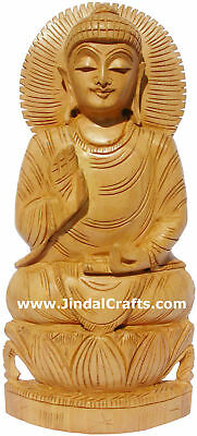 Handmade Sculpture Buddha Figurine India Hand Work Art Buddhism Handicraft Murti
