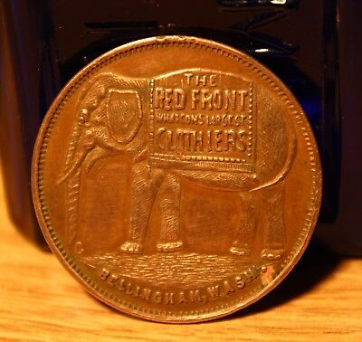 THE RED FRONT - BELLINGHAM, WASHINGTON - R-7  ELEPHANT PICTORAL Trade Token