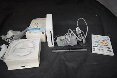 Nintendo Wii Bundle 1 Console, 1 Controller, 1 Game LOT  AAA