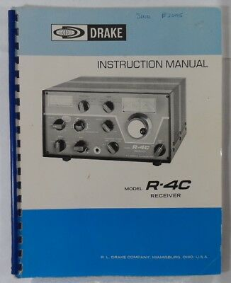 RL Drake R-4C Original Instruction Manual in Very Good Condition