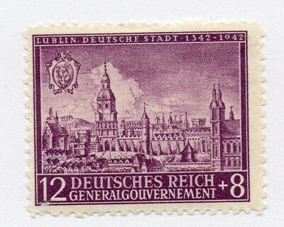 German Occupation of Poland 1942 Early Issue Fine Mint Hinged 12gr. 297110